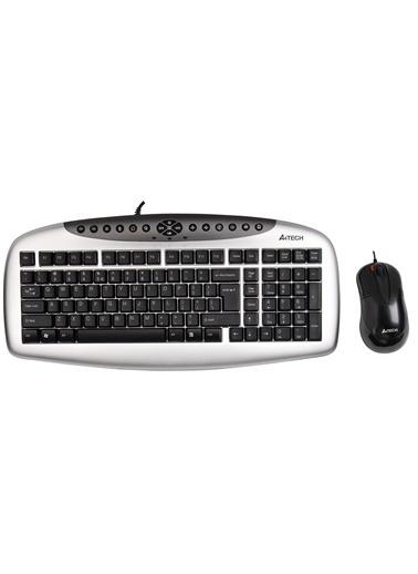 A4 TECH KB-2150D Q-TR Multimedya Usb Klavye&Mouse Set Siyah